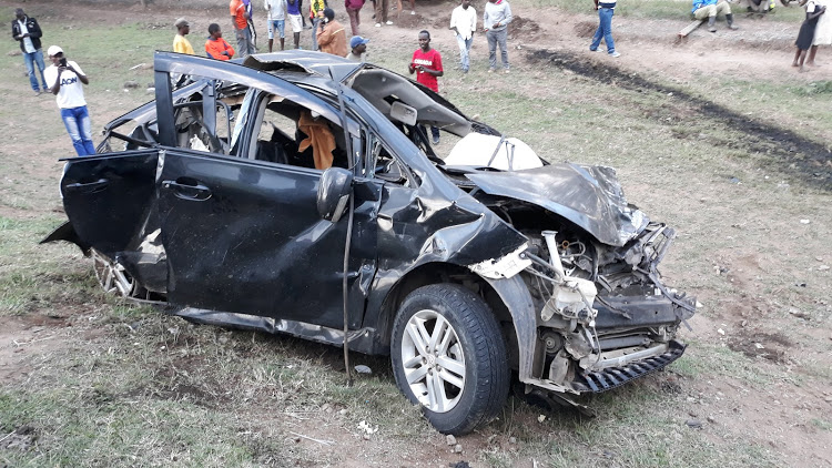 A vehicle that was involved in a road accident [Photo courtesy]
