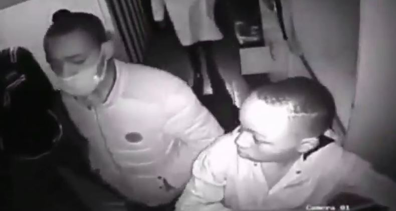 Thugs caught on CCTV stealing from a business premise