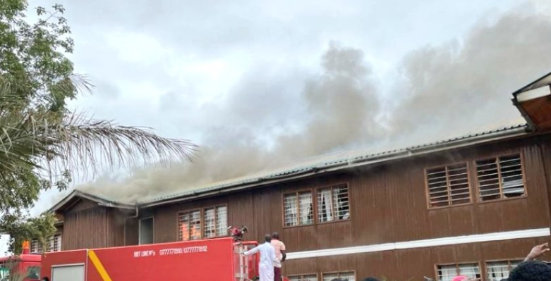 Garissa County Assembly is on fire