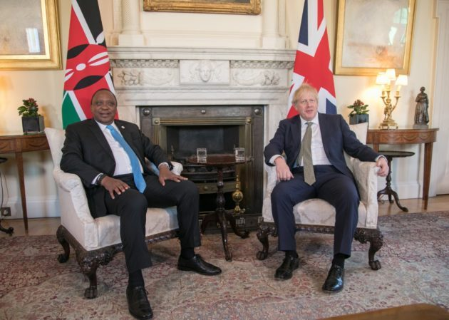 President Uhuru Kenyatta and UK PM Boris Johnson
