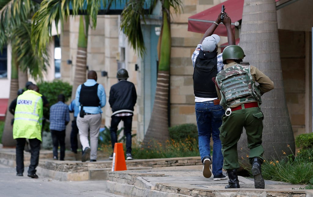 Recce squad officers during the Riverside attack. |Photo| Courtesy|