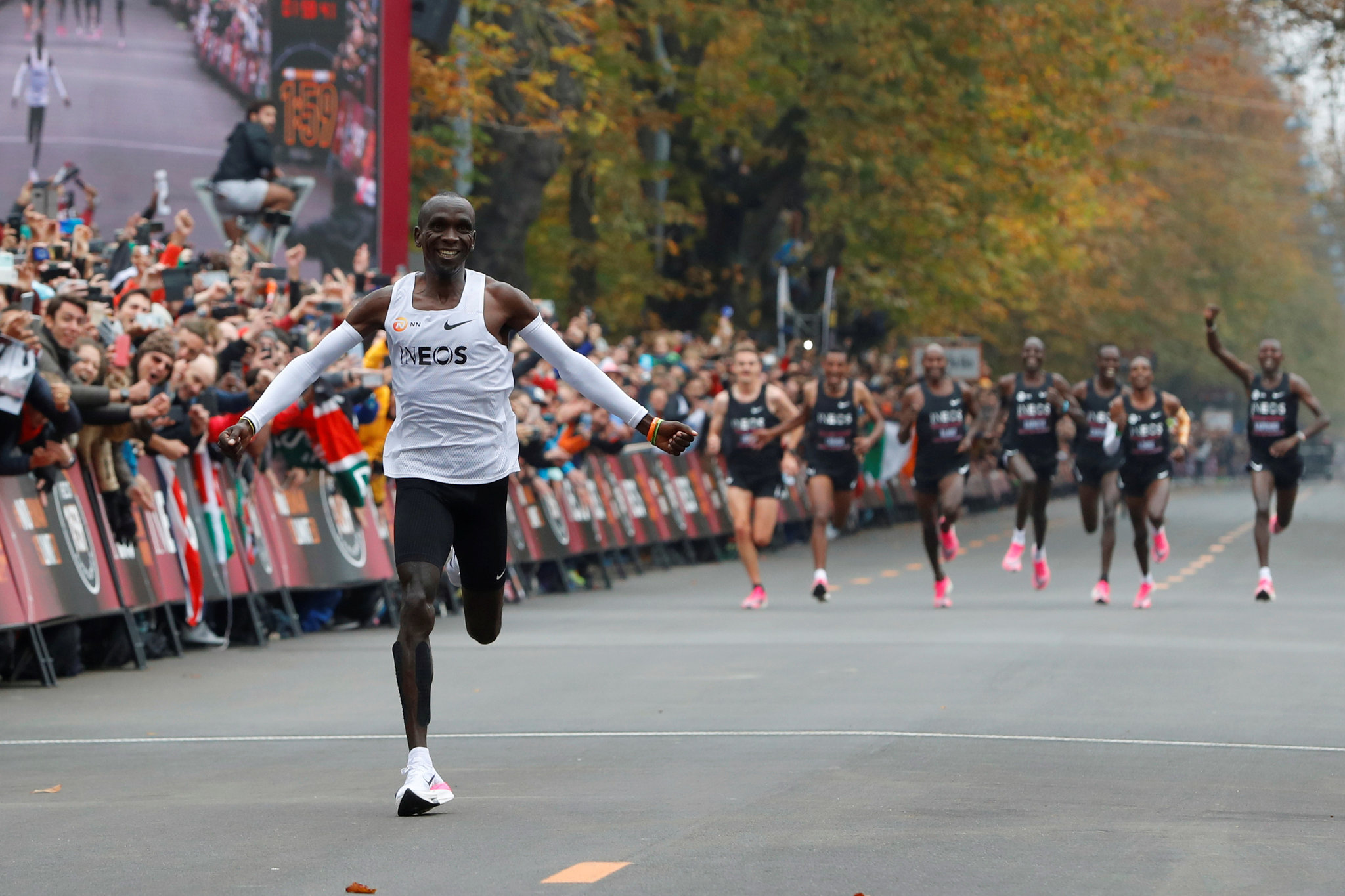 Eliud Kipchoge when he won the INEOS 1:59 challenge in Vienna, Austria on October 12, 2019. |Photo| Courtesy|