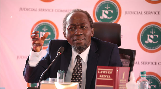 Labour Court Judge Njagi Marete is interviewed for the position of Chief Justice on April 15, 2021. |Photo| Courtesy|
