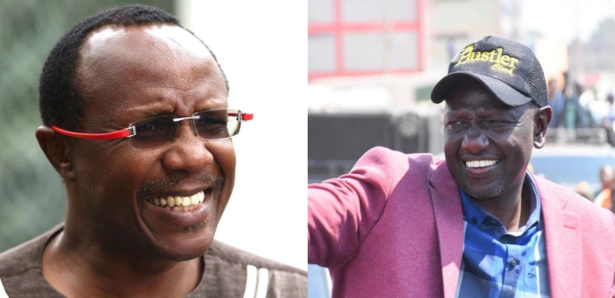 A collage image of Economist David Ndii and Deputy President William Ruto. |Photo| Courtesy|