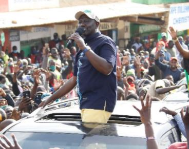 DP William Ruto in West Pokot County