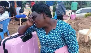 Rachel Amogola, the distressed mother of form one student whose position at Mugoiri Girls had been taken