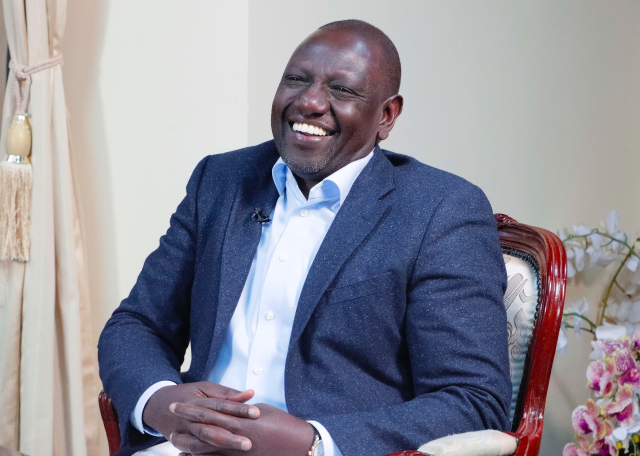 Deputy President William Ruto during an interview on Inooro FM