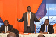 Former Prime Minister Raila Odinga and other ODM Leaders. [Photo: Courtesy]
