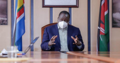 File image of Interior Cabinet Secretary Dr Fred Matiang'i during a past briefing. |Photo| Courtesy|
