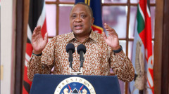 File image of President Uhuru Kenyatta during a past Covid-19 address. |Photo| Courtesy|
