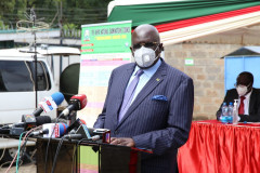 Education CS George Magoha releases the 2020 KCSE exam results at Mitihani House on Monday, May 10, 2021. |Courtesy| Twitter|