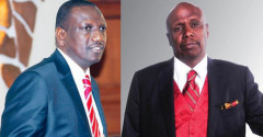 A collage image of DP William Ruto and Gideon Moi. |Photo| Courtesy|