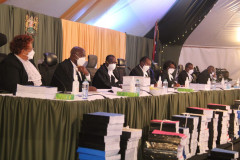 The 7-Judge Court of Appeal bench listening to the BBI Appeal.
