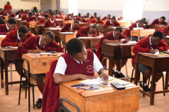 Students sitting for an exam/Photo Courtesy