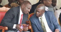 File Image of Deputy President William Ruto with Mathira MP Rigathi Gachagua during a past event.