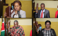 Newly Appointed IEBC Commissioners Sworn-in By CJ Martha Koome