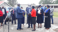 Education CS Prof George Magoha and his team at a past event.